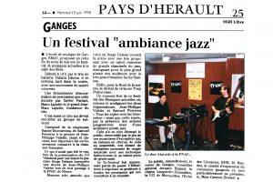 EMAC 2ème Festival à Ganges en 1998