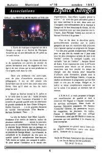 EMAC Bulletin municipal Ganges 1997
