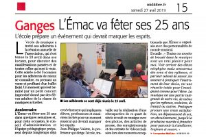 EMAC Journal Midi Libre 27042019