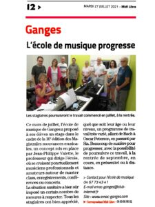 EMAC journal Midi Libre 27072021