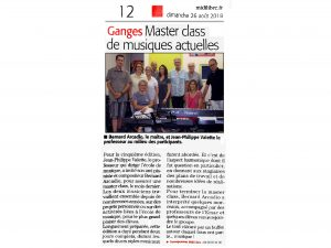 EMAC journal Midi Libre le 26082018